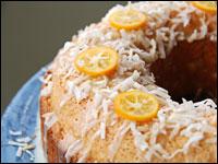 Coconut Kumquat Tea Cake